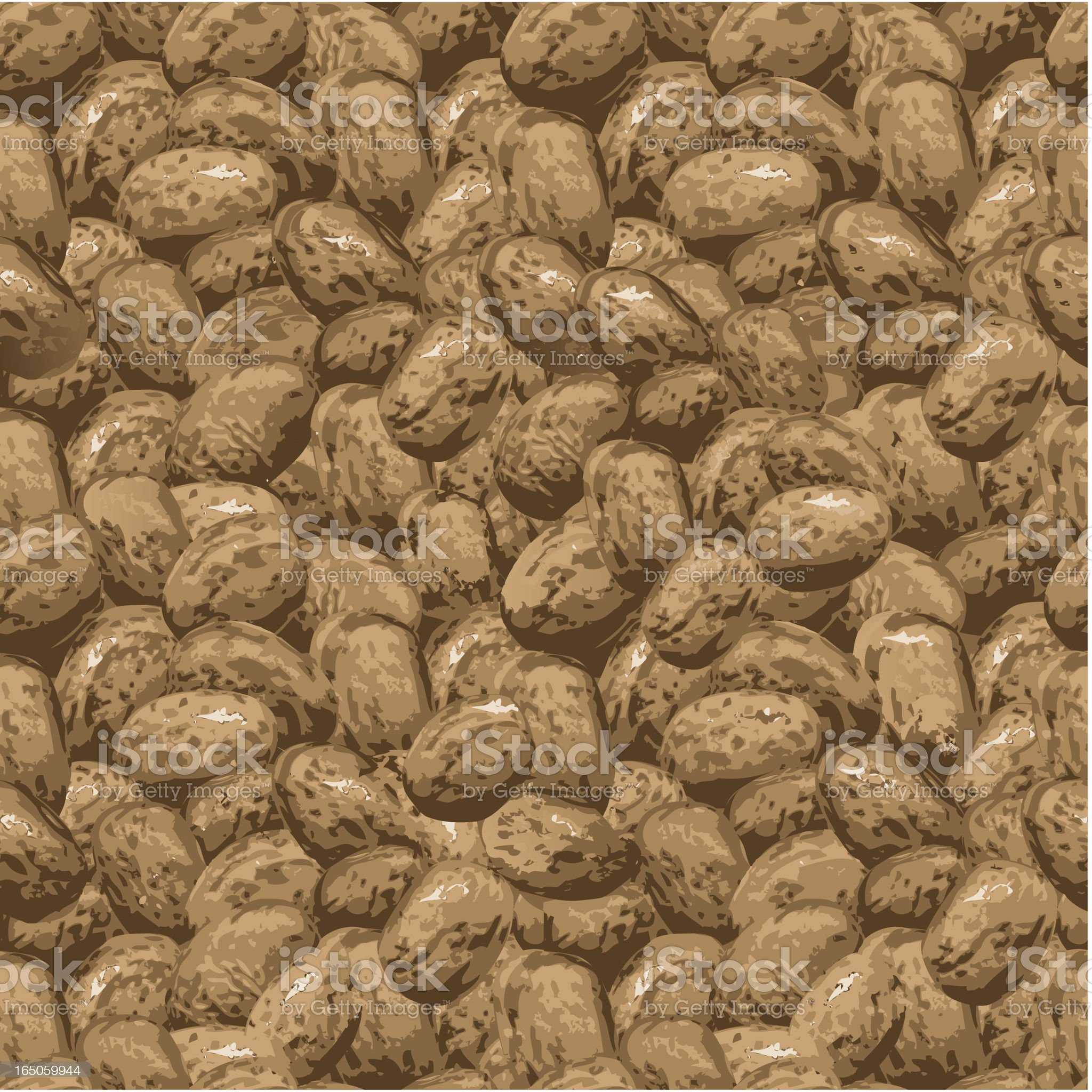 Endless Repeating Pinto Beans royalty-free stock vector art