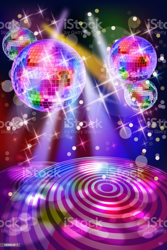 Energetic Colorful Disco Club Background royalty-free stock vector art