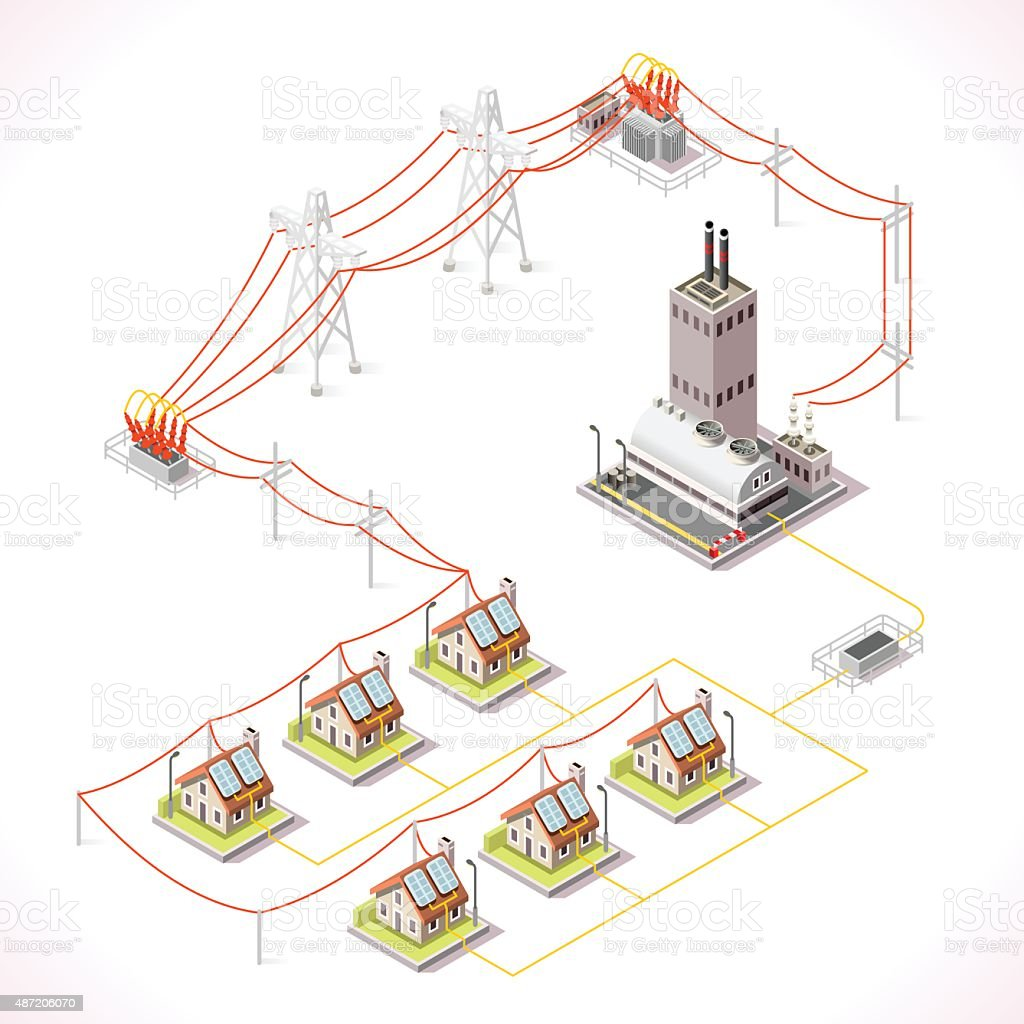 Energy 13 Infographic Isometric vector art illustration