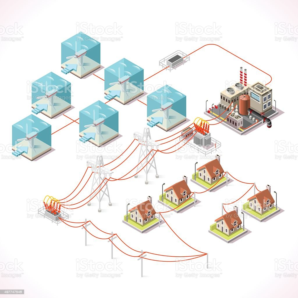 Energy 17 Infographic Isometric vector art illustration