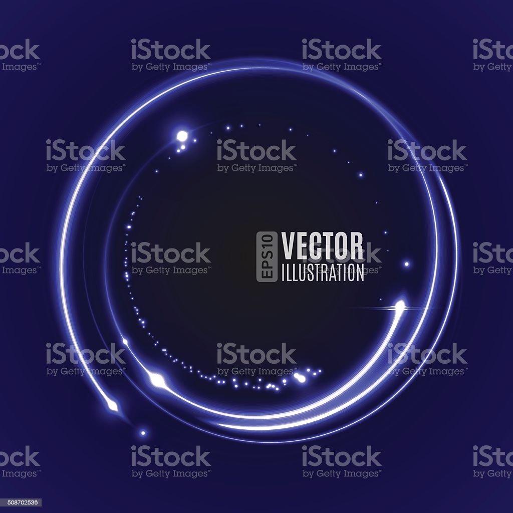 Energy abstract glow circles vector art illustration