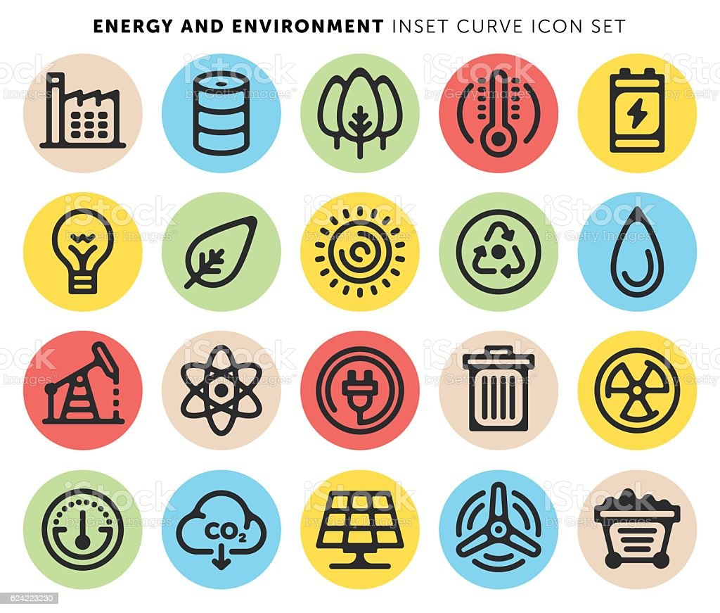 Energy and Environment vector art illustration