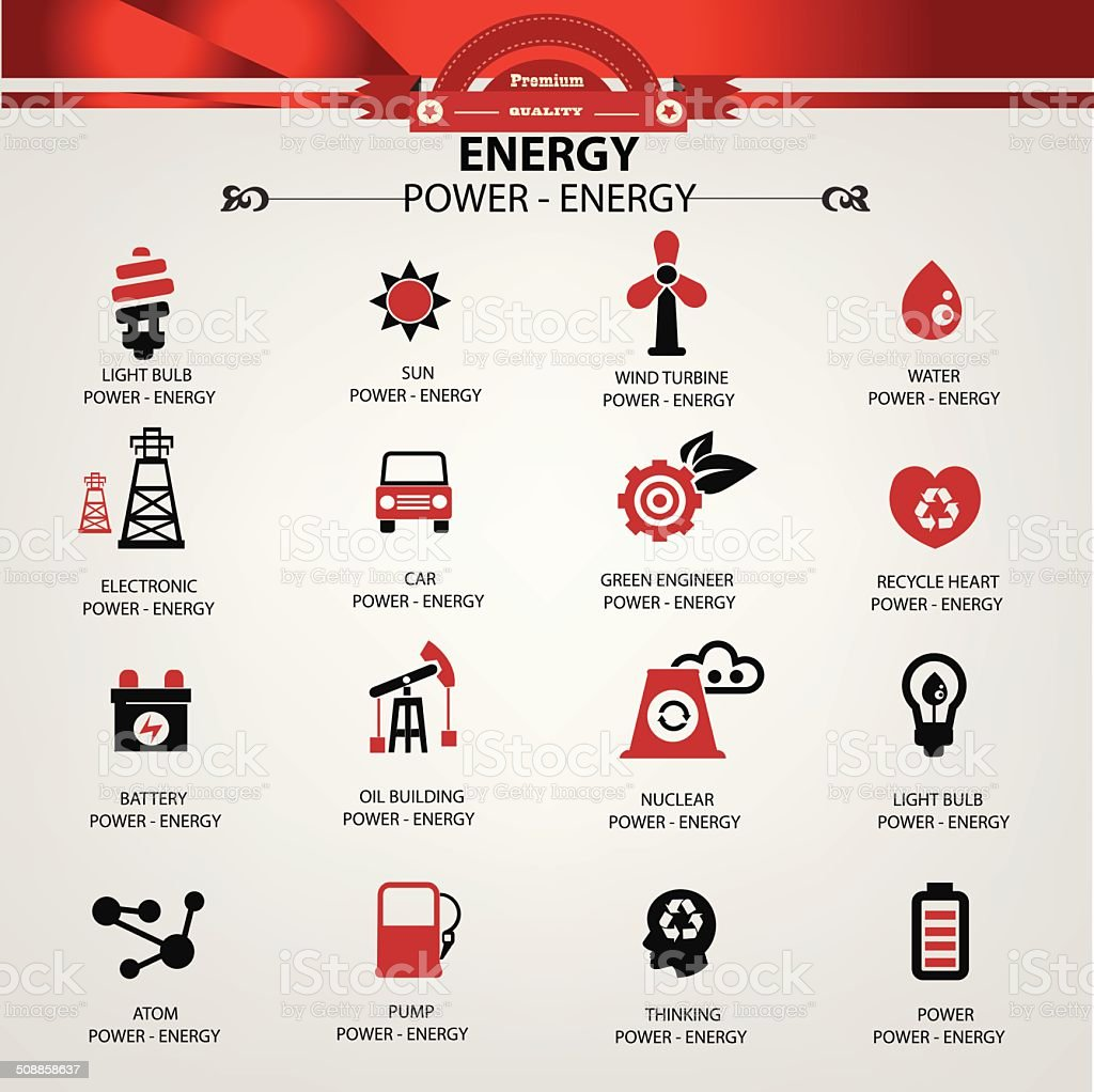 Energy and power icons,vector vector art illustration