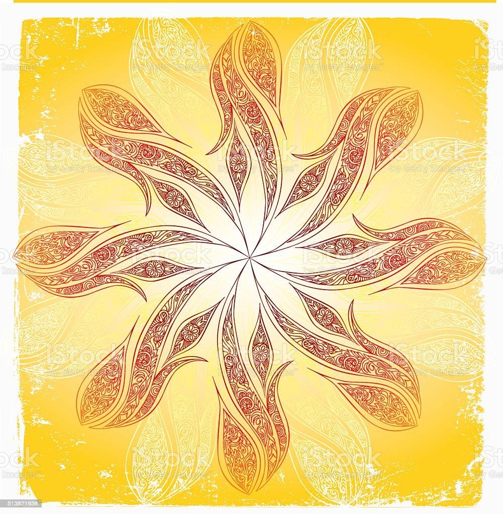 energy blossom vector art illustration
