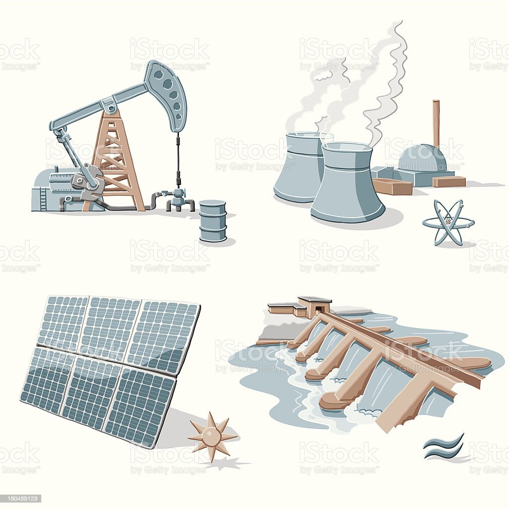 Energy Clip Arts vector art illustration
