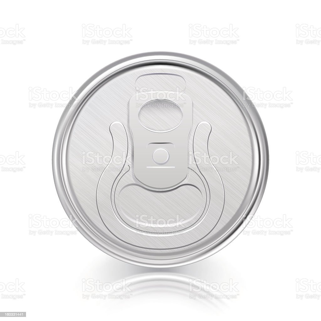 Energy drink can top view royalty-free stock vector art