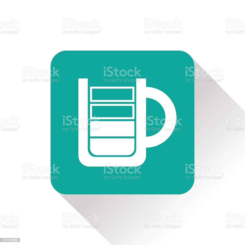 Energy drink cup flat icon. Vector illustration vector art illustration