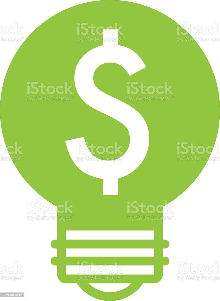 Energy efficiency icon vector art illustration