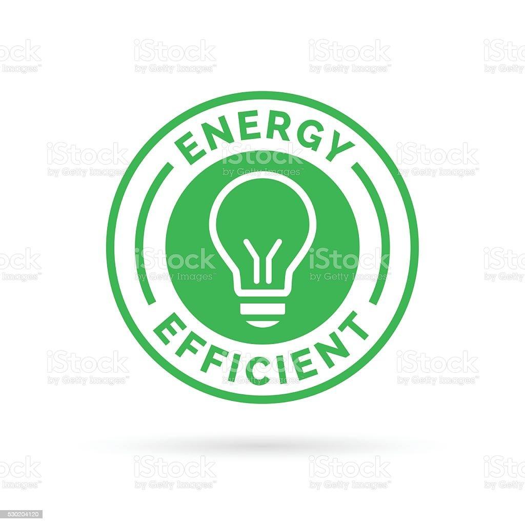 Energy efficient green eco icon lightbulb symbol design vector art illustration