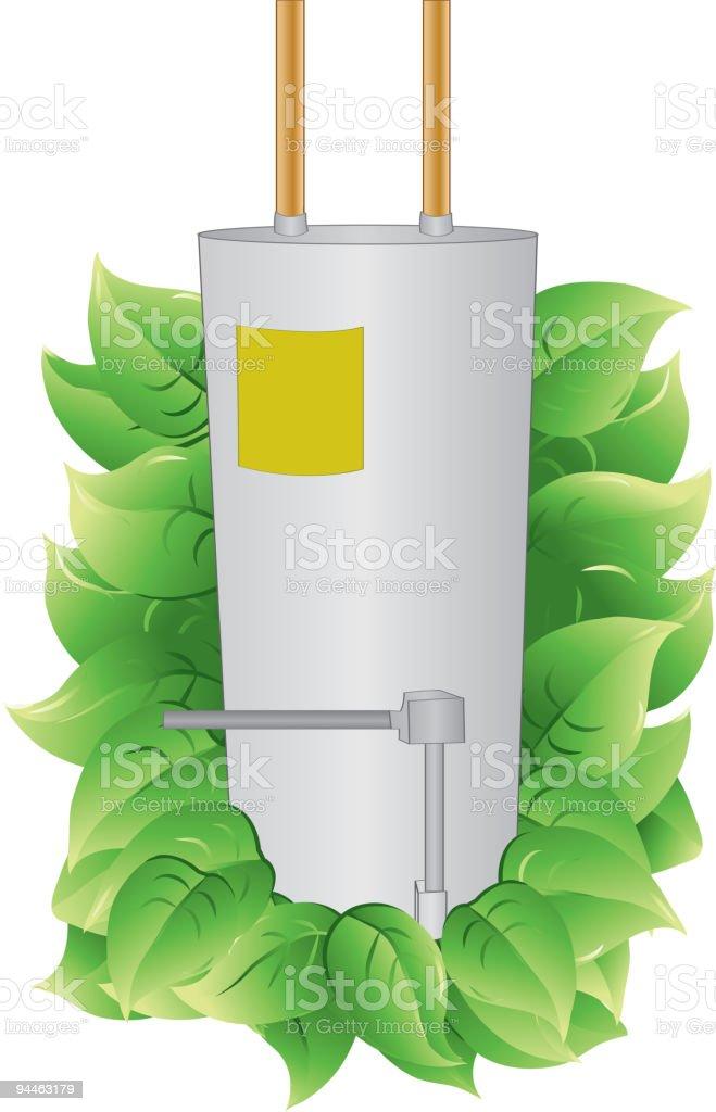 Energy Efficient Water Heater vector art illustration
