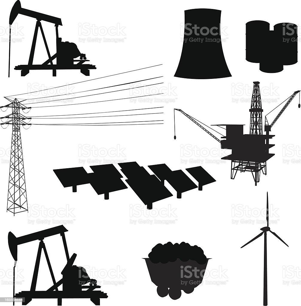 Energy Elements vector art illustration