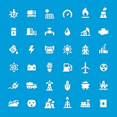 Energy Generation vector icons set