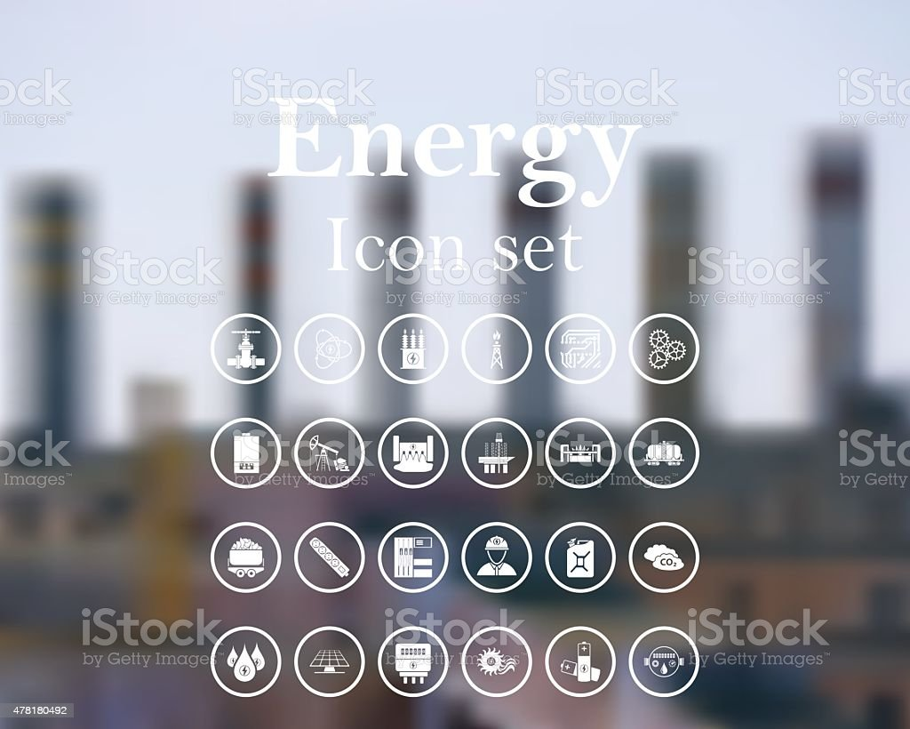 Energy icon set. vector art illustration