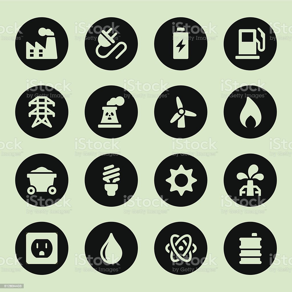 Energy Icons - Circle vector art illustration