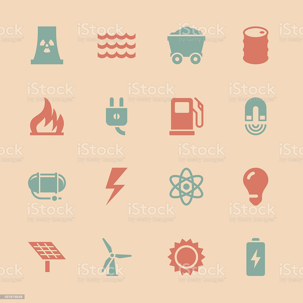 Energy Icons - Color Series | EPS10 royalty-free stock vector art