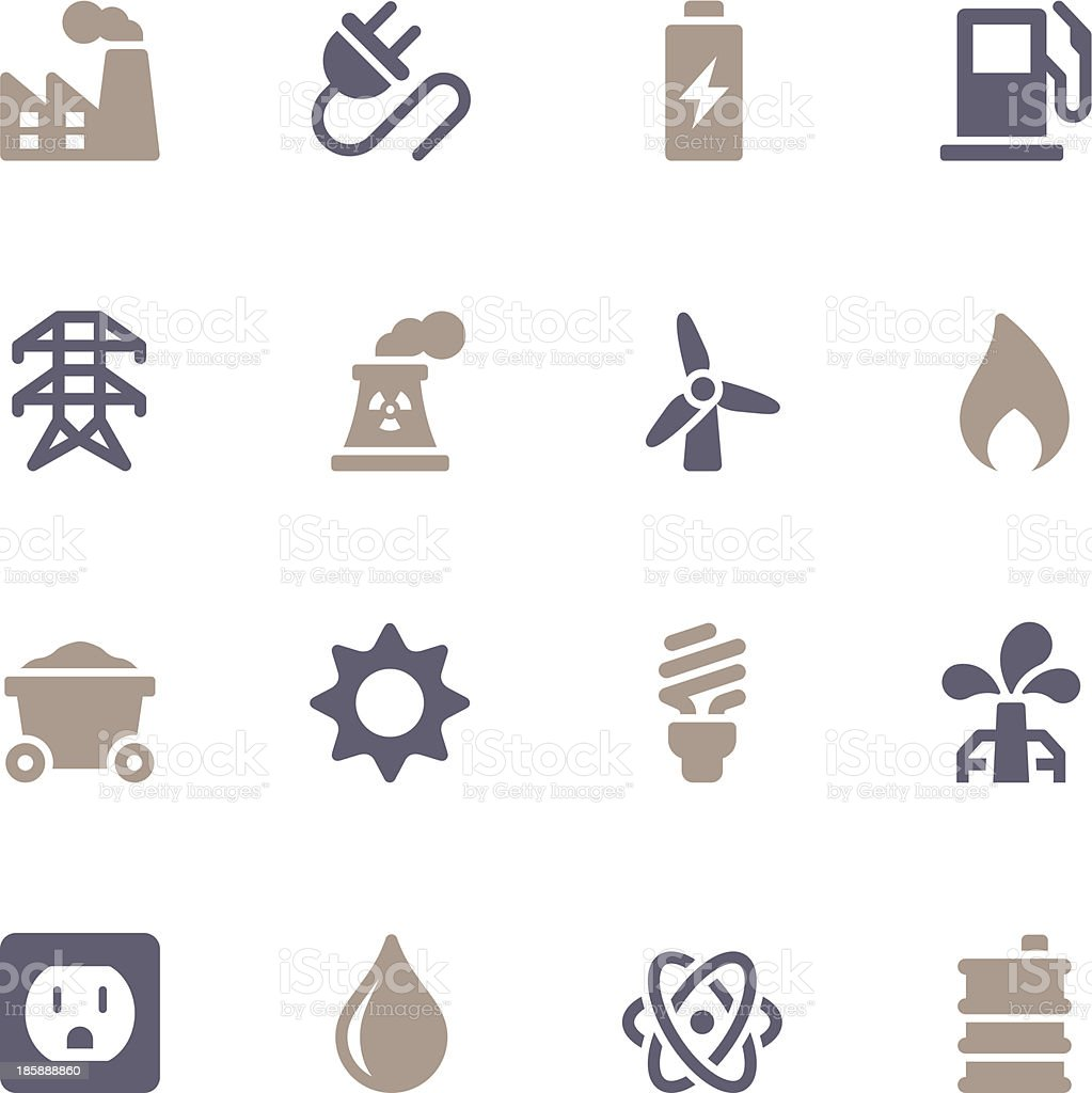 Energy Icons - Color Series vector art illustration