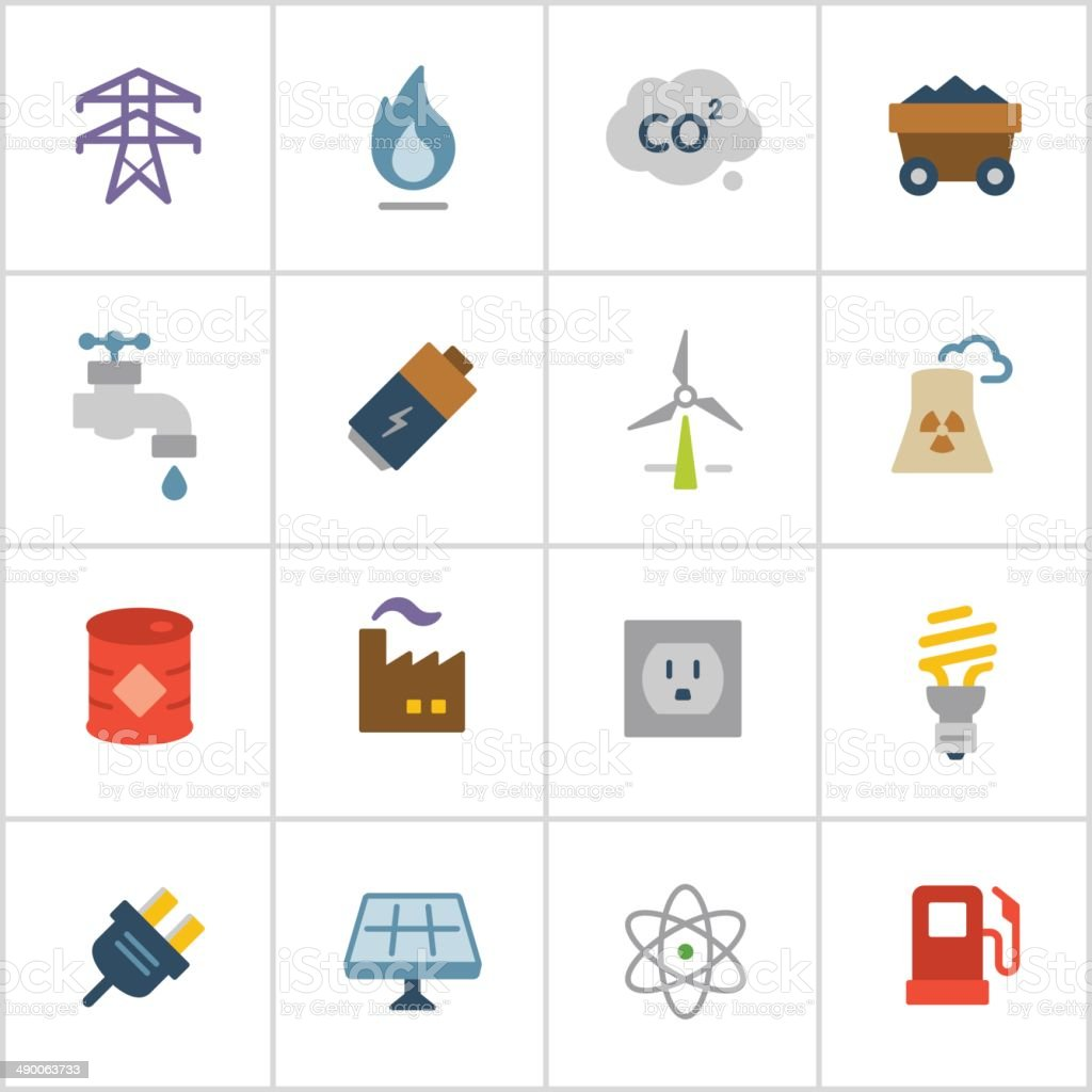 Energy Icons — Poly Series vector art illustration