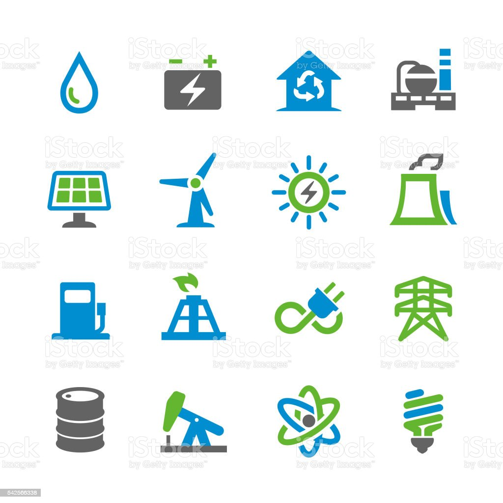 Energy Icons - Spry Series vector art illustration