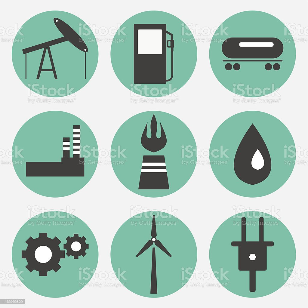 Energy icons royalty-free stock vector art