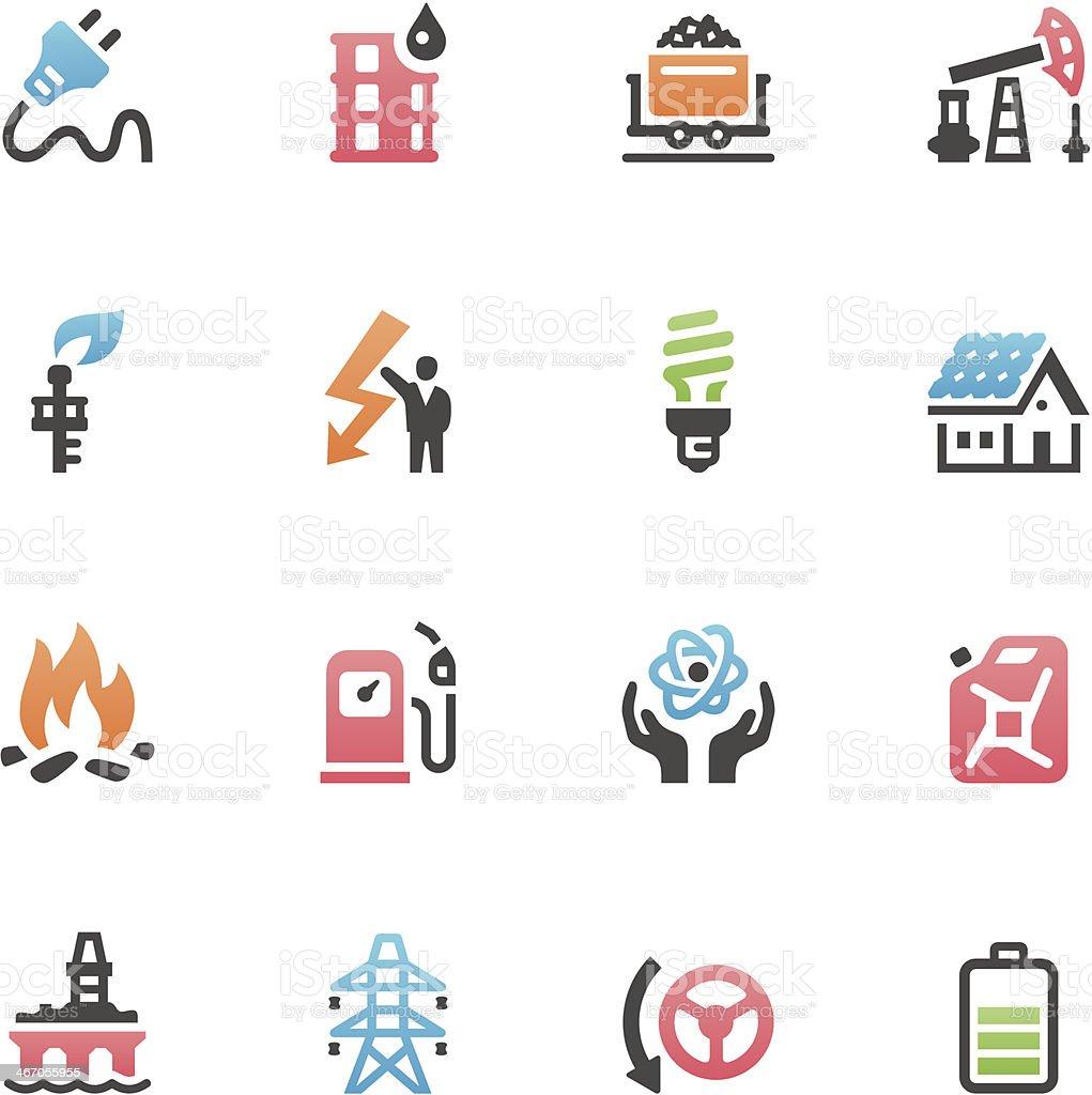 Energy icons vector art illustration