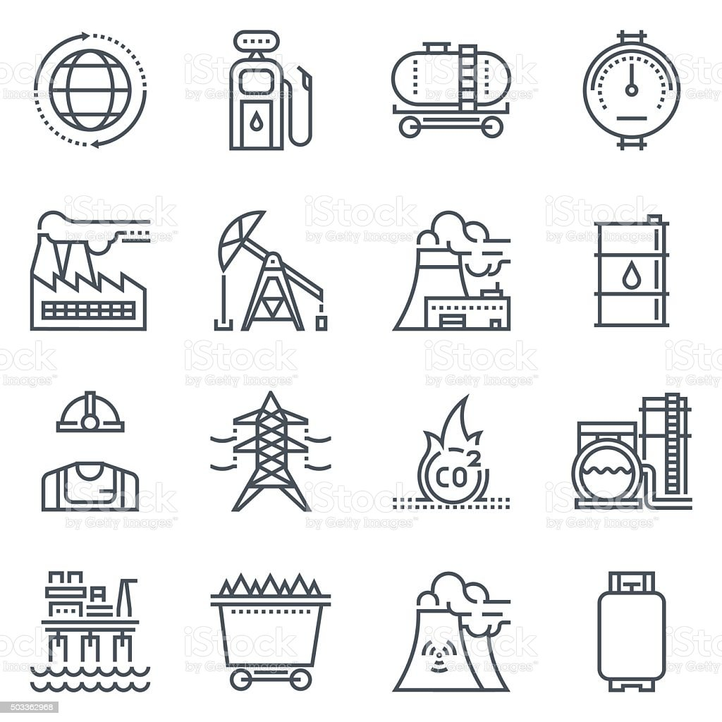Energy industry icon vector art illustration
