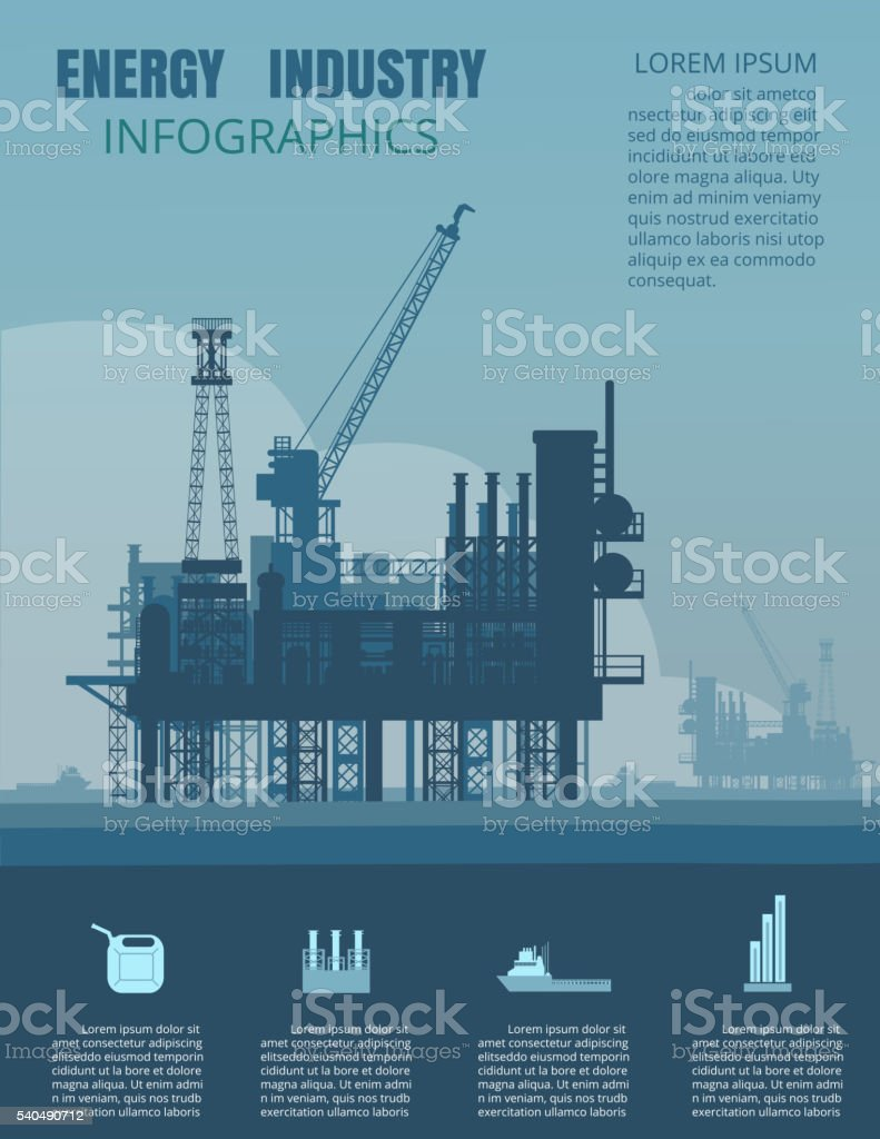 Energy industry infographic vector art illustration