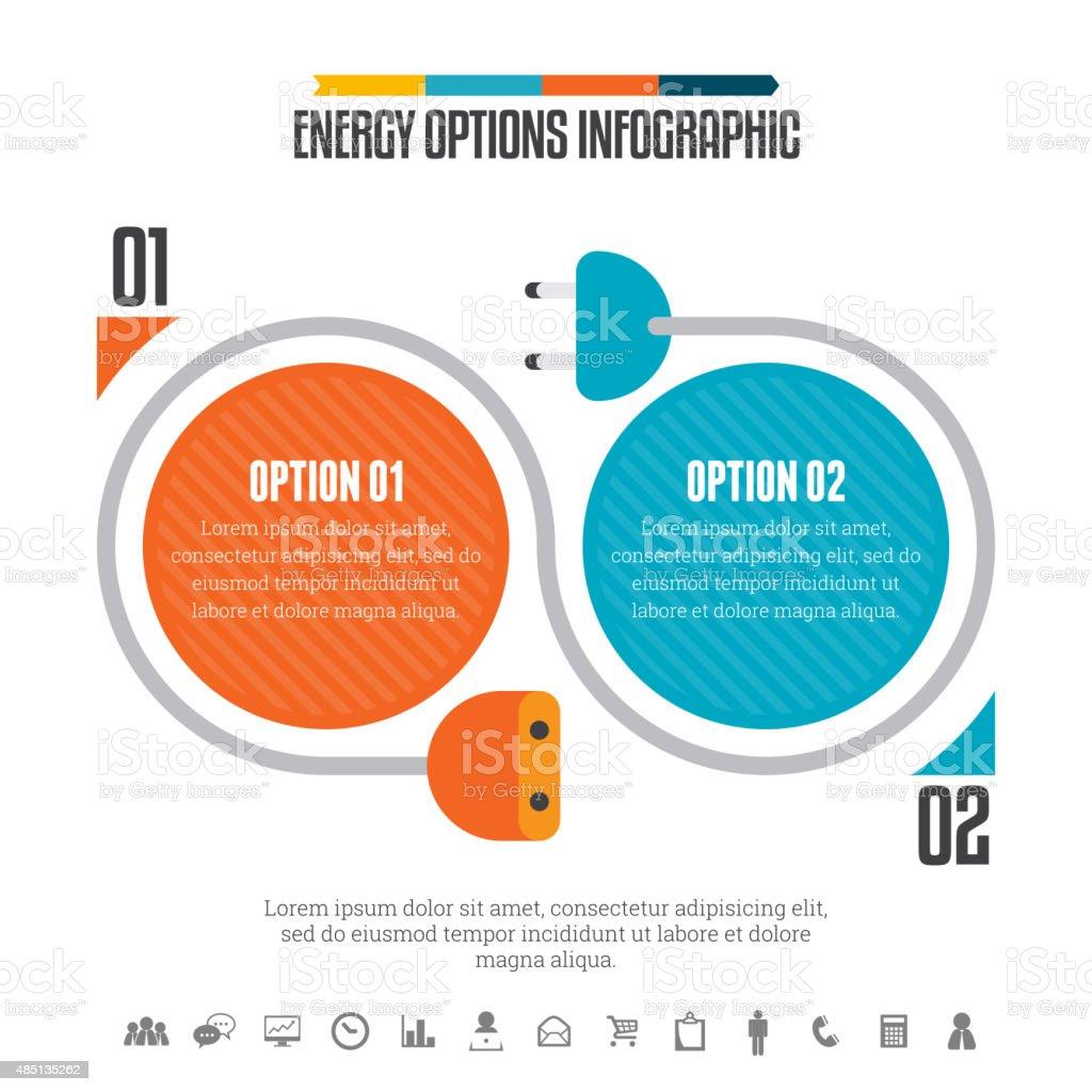 Energy Options Infographic vector art illustration
