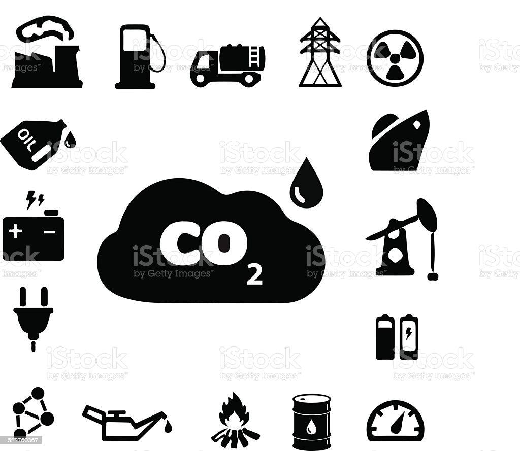 Energy & Power Icons vector art illustration
