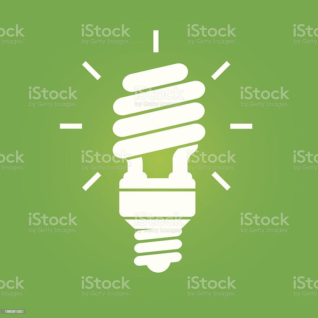 energy saver bulb vector art illustration