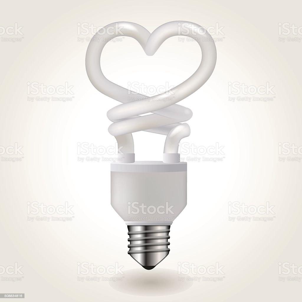 Energy saving bulb vector art illustration