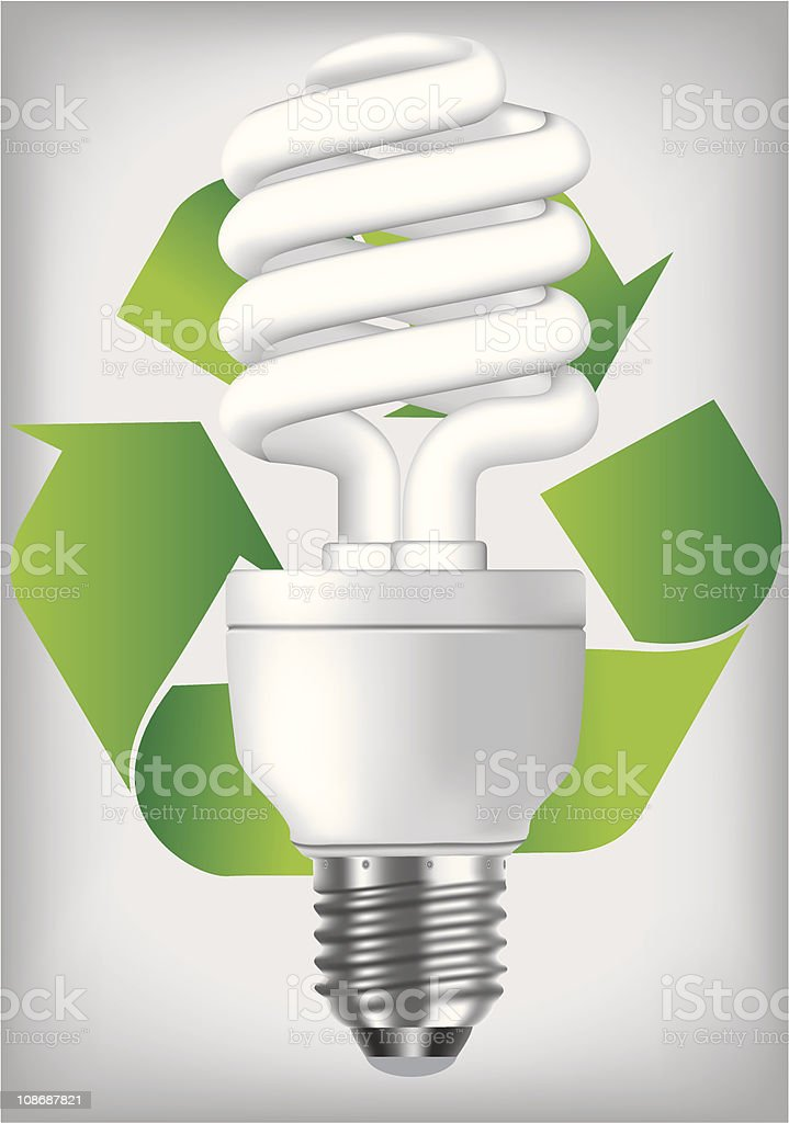 Energy saving light bulb royalty-free stock vector art