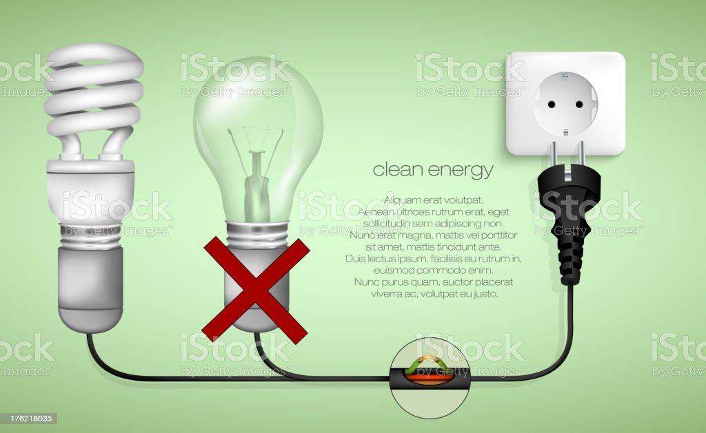 Energy saving light bulb royalty-free stock vector art