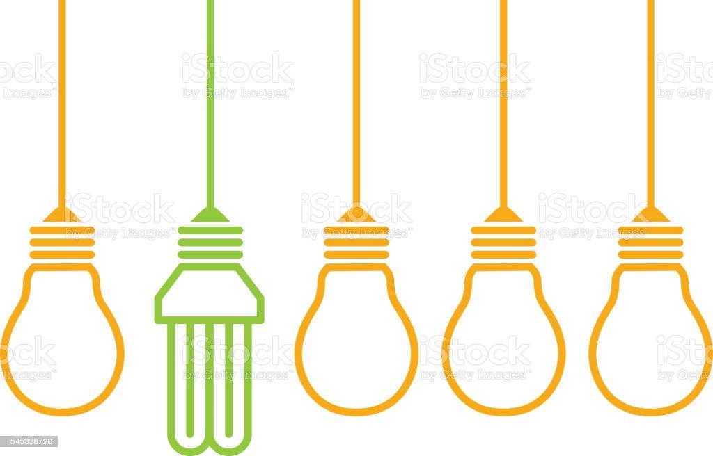 Energy saving light vector art illustration