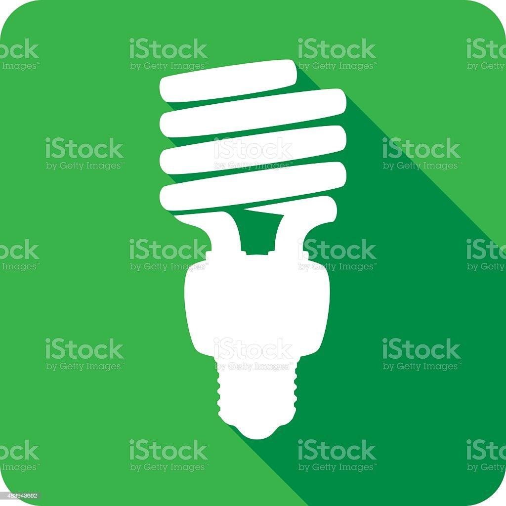 Energy Saving Lightbulb Icon Silhouette vector art illustration