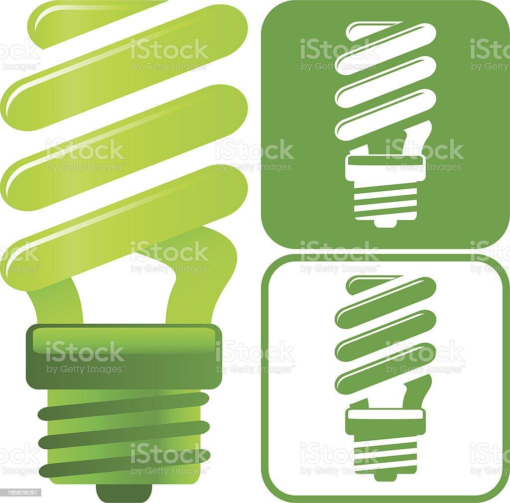 Energy saving lightbulb icon vector art illustration