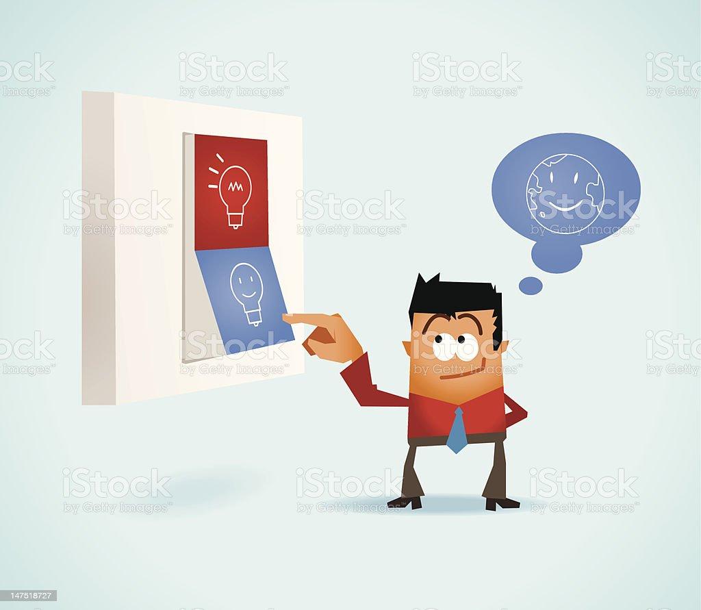 Energy saving royalty-free stock vector art