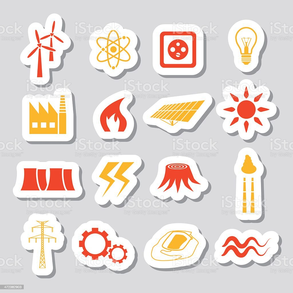 energy stickers royalty-free stock vector art
