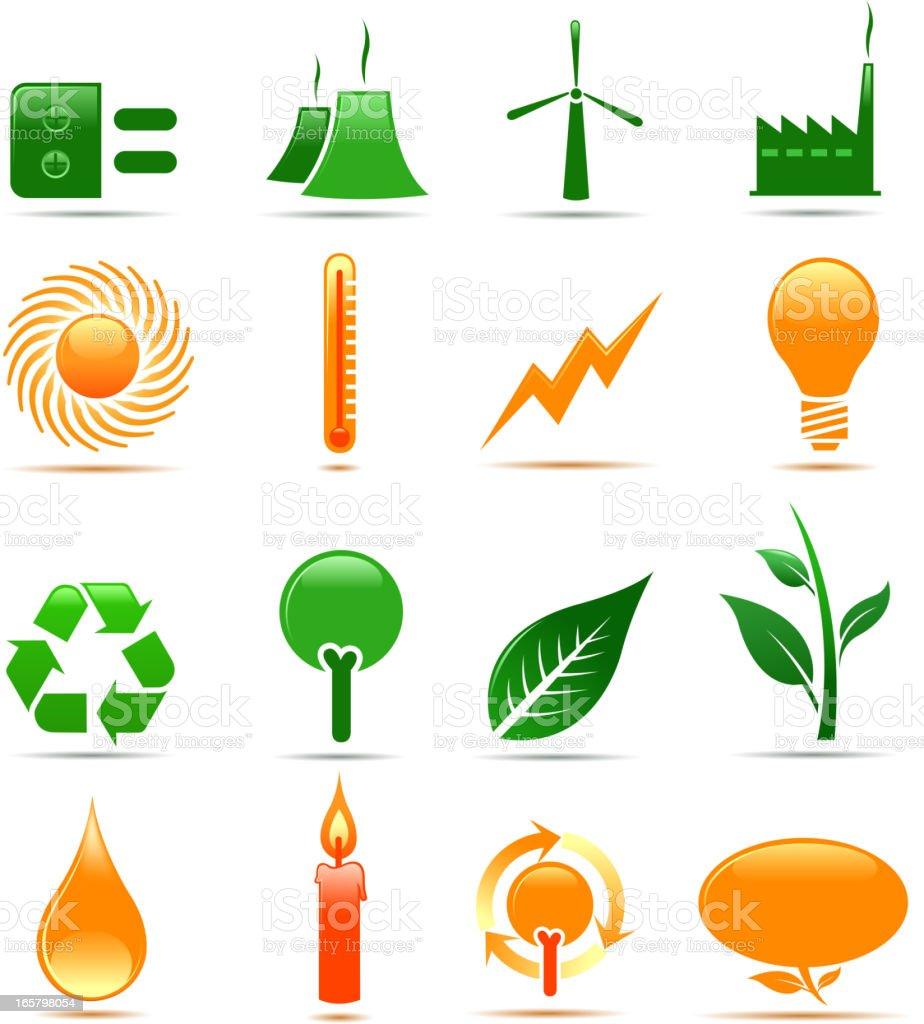 energy symbols vector art illustration