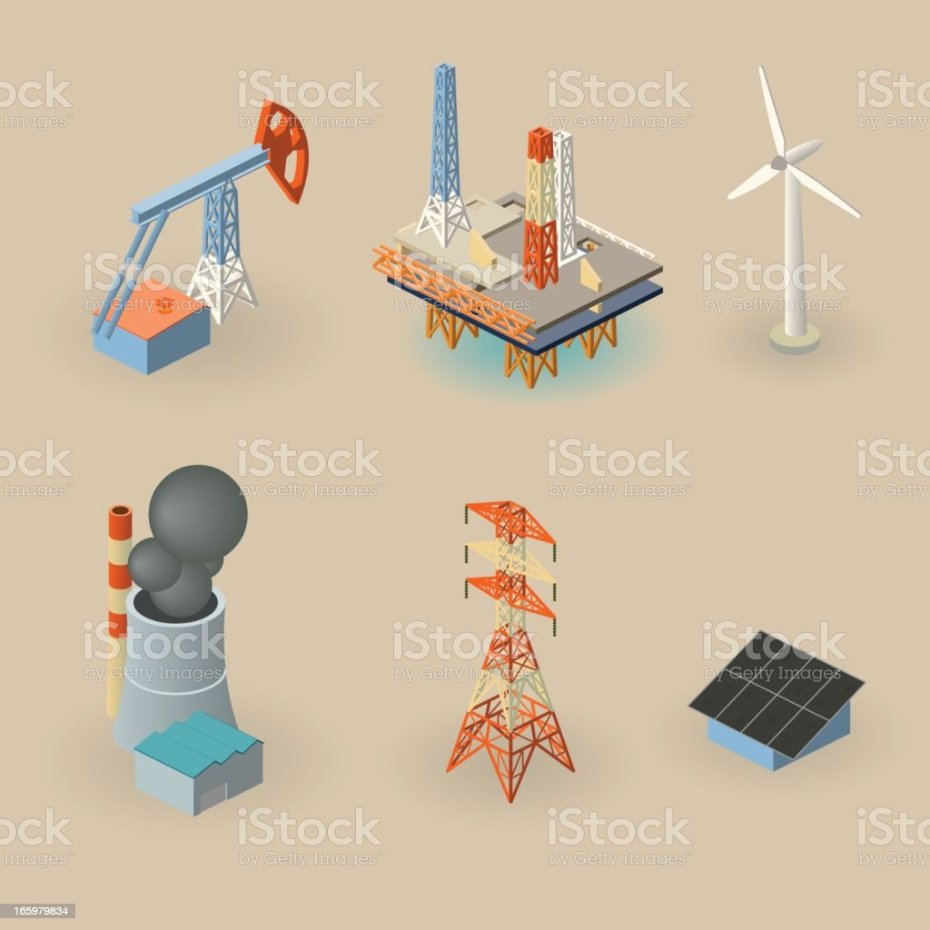 energy symbols royalty-free stock vector art