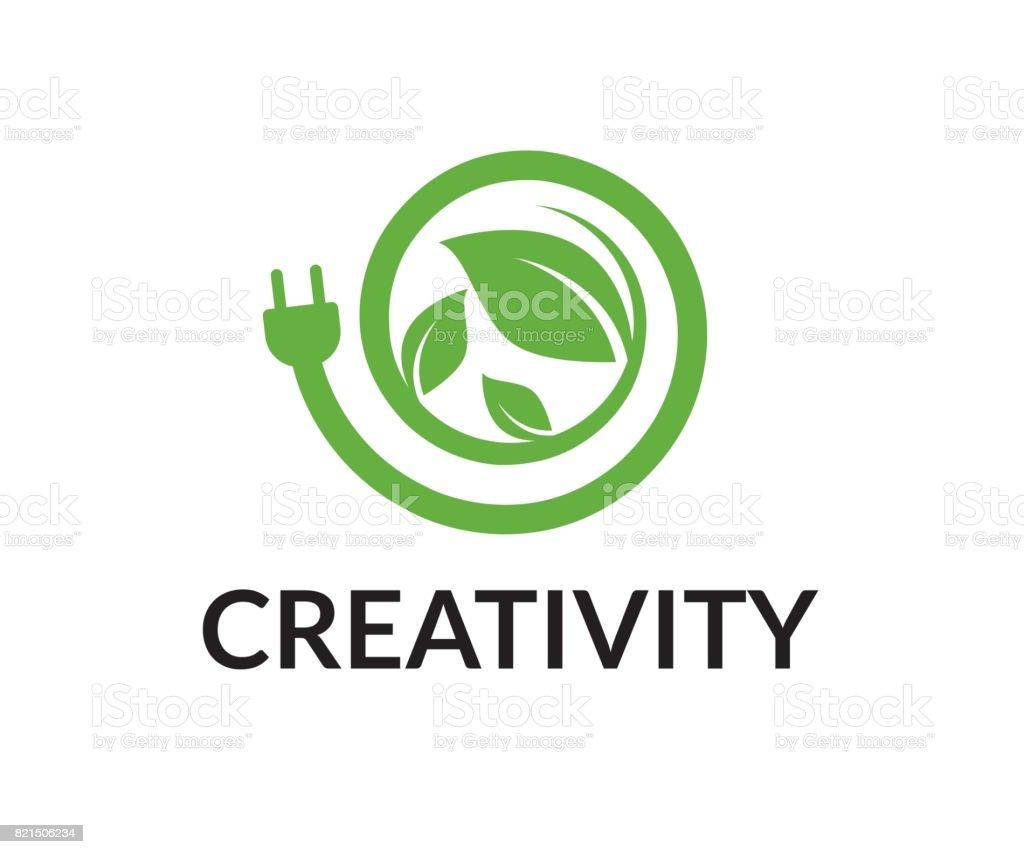 Energy vector icon vector art illustration