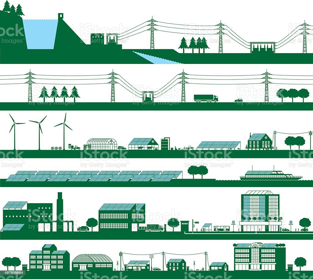 Energy vector art illustration