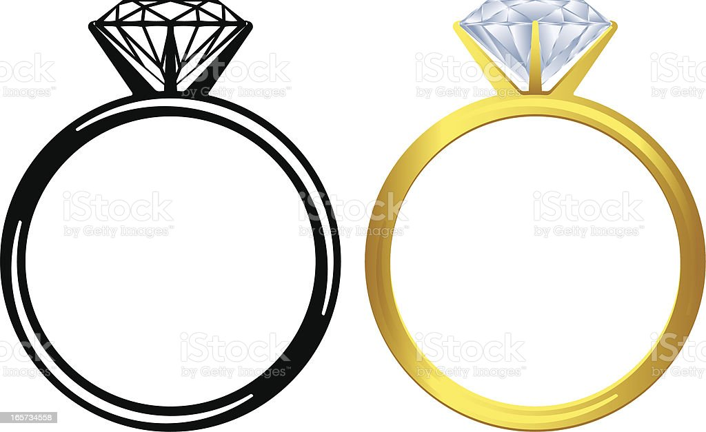 Engagement ring icon vector art illustration