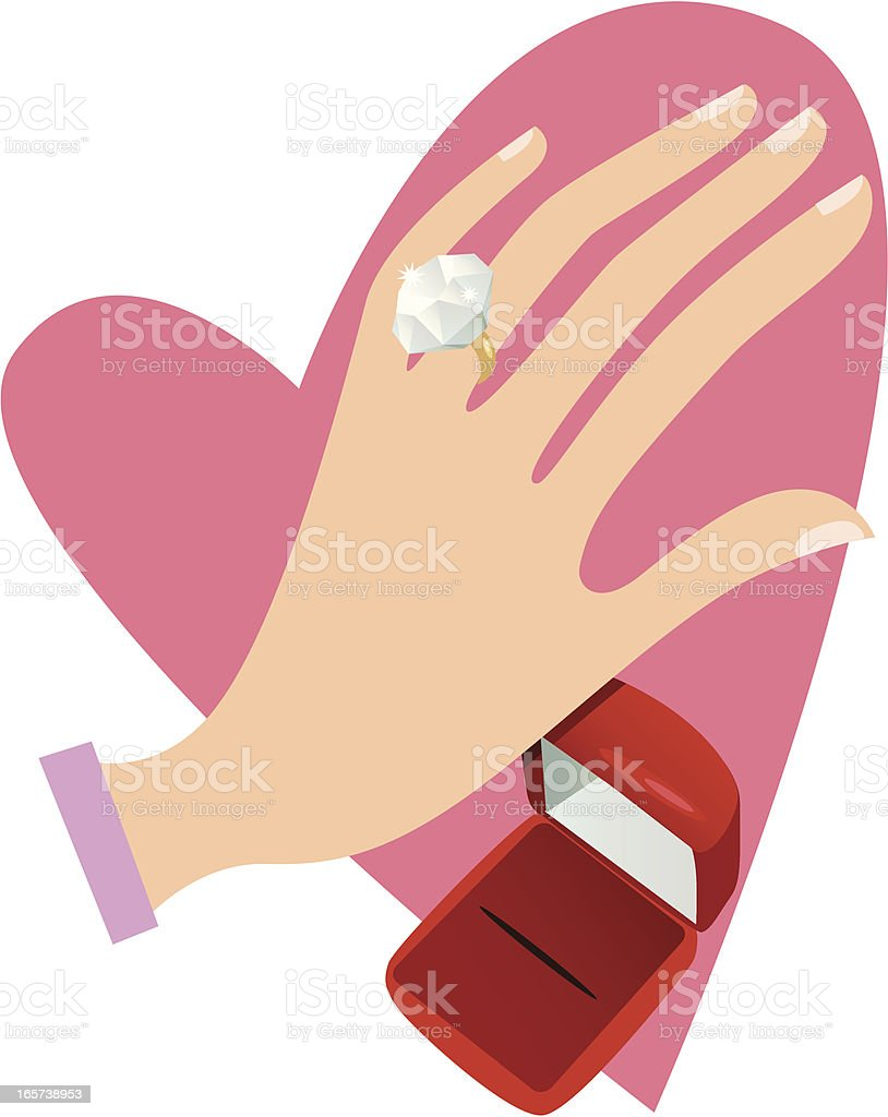 Engagement Ring vector art illustration