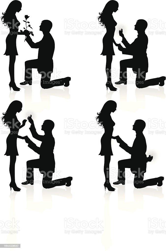 Engagement. royalty-free stock vector art
