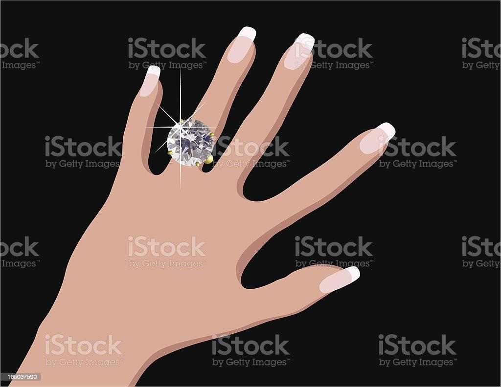 Engagement / Wedding Ring vector art illustration
