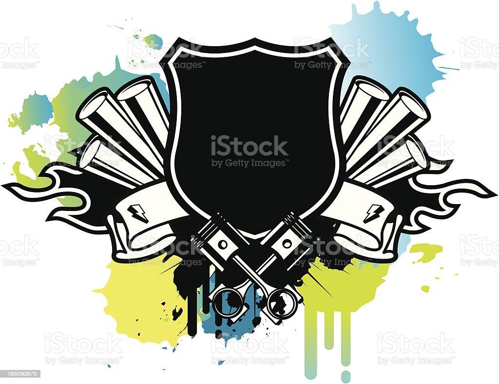 engine emblem royalty-free stock vector art