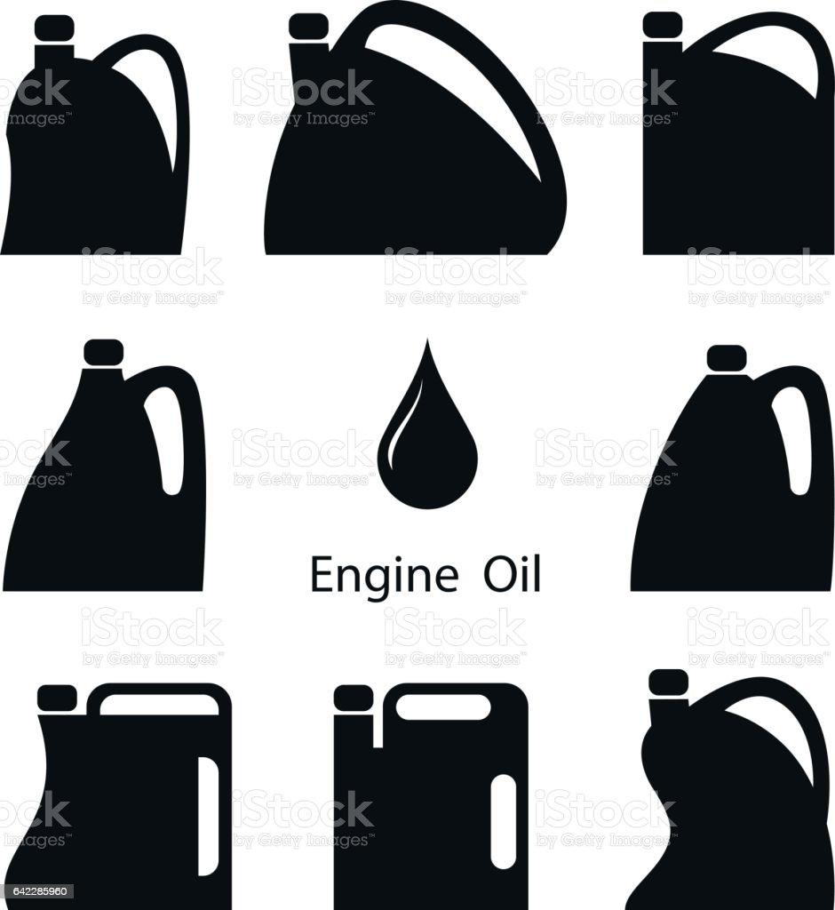 Engine oil. vector art illustration