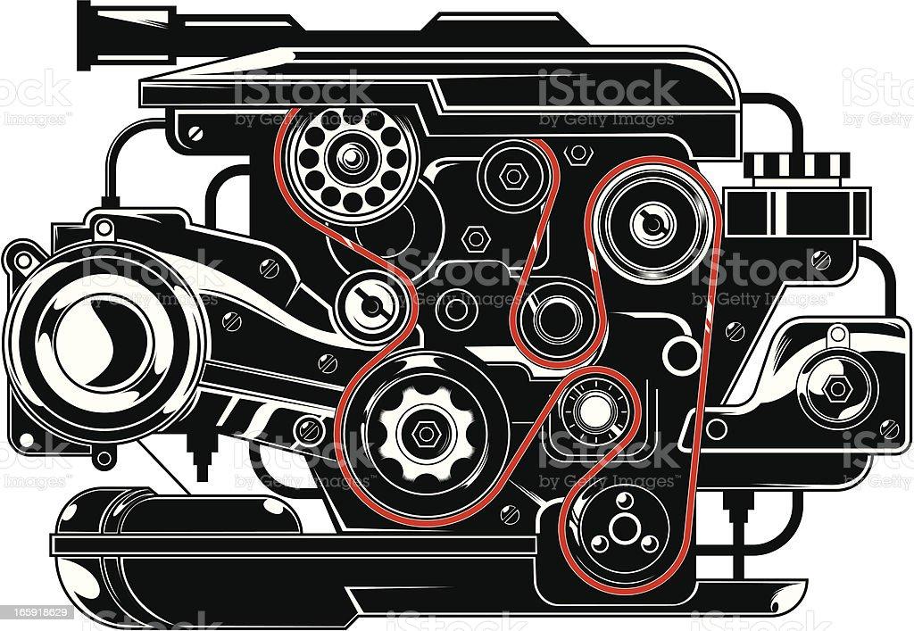 Engine vector art illustration