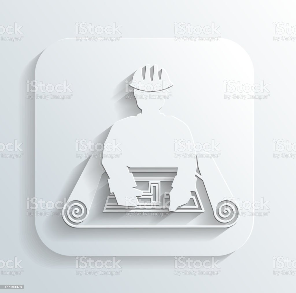 engineer for the project icon vector royalty-free stock vector art