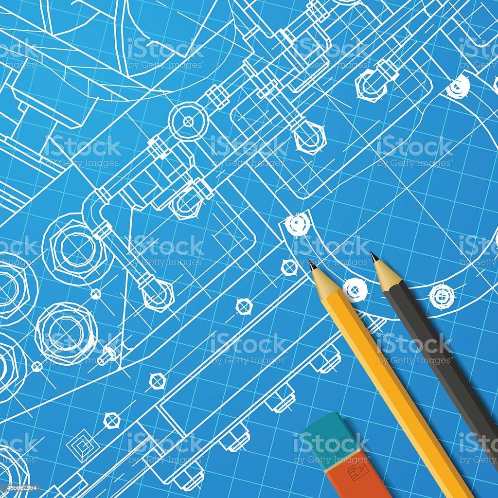 Engineer illustration vector art illustration